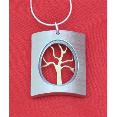 Collier arbre SIL-GR - Rectangle FC
