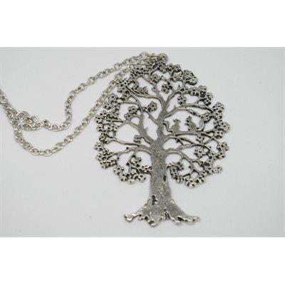 Collier arbre - Zinc