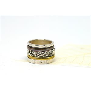 Spinner meditation ring - Braided