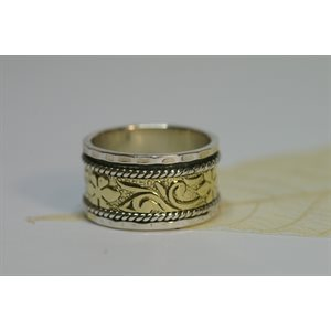 Spinner meditation ring - Flowers
