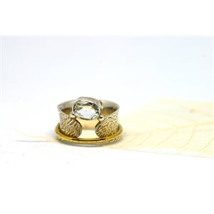 Spinner meditation ring - Moonlight