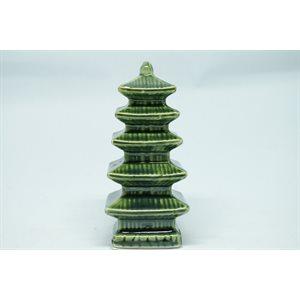 Lanterne japonaise verte 5 étages
