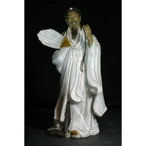 "Figurine 9"" YCJ - Robe blanche /  Eventail"