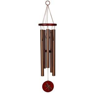 "Carillon Habitat Libellule Rouge / Bronze 26"""