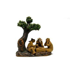"""Sage beige (3) sous l'arbre 3.5""""H"""