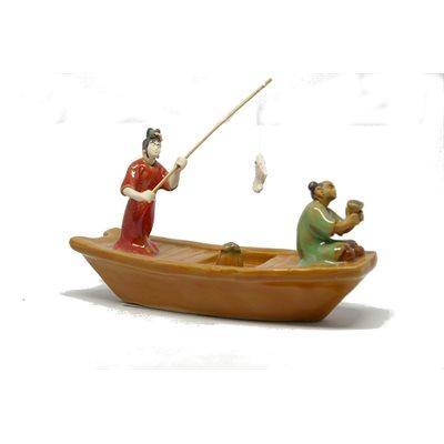 "Bateau pêcheurs (2) 6""x3.75''H"