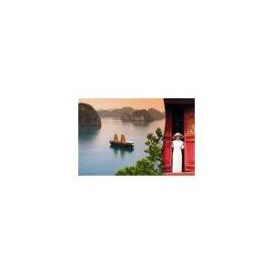 Carte - Bateau chinois sur l'eau