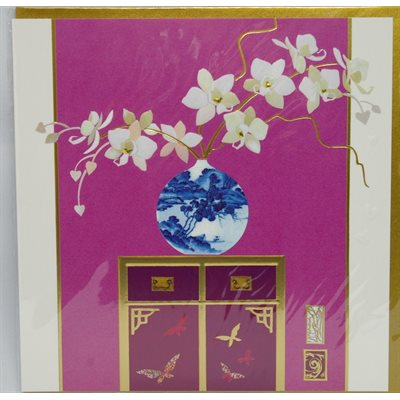 Card - Orchid and chinese pot
