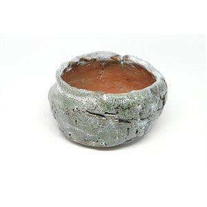 Artisan PL -  Rond Blanc / Gris - 10 x 10 x 6 cm