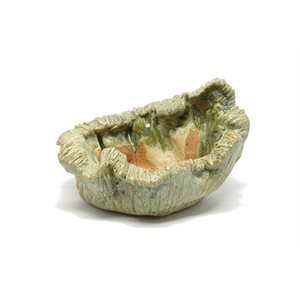 Artisan PL -  Oval Beige vert - 17 x 14 x 12 cm