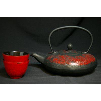 Théière en fonte Dragon rouge (ens) 0.8L