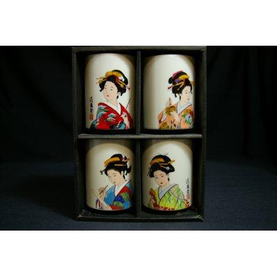Tasse à thé - 4pcs - Geisha