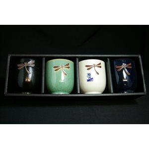 Tasse à thé Libellule - 4pcs