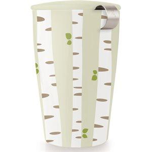 Tasse avec infuseur - Forêt bouleaux