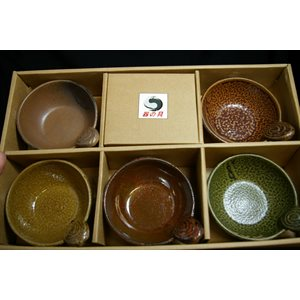 Tasse à thé  /  support (ens. 5) - Supp. 4.5 x 3
